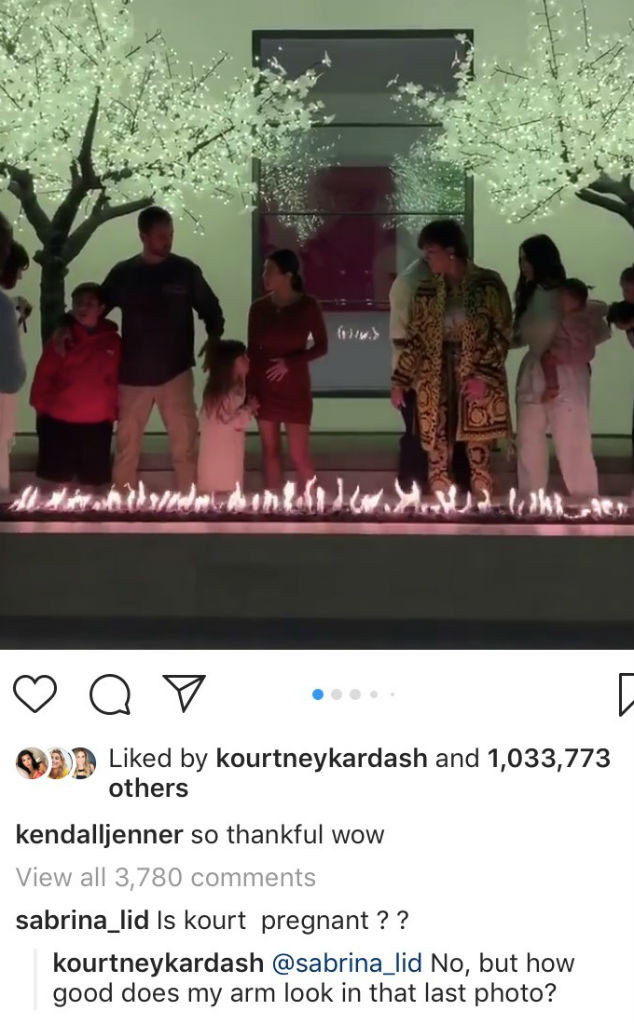Kourtney Kardashian, Thanksgiving, Instagram